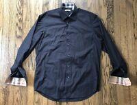 Burberry Brit Mens Nova Check Long Sleeve Button Down Shirt Size Large