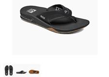Reef Fanning Black Silver Sandal Comfort Flip Flop Men's US sizes 7-17 NEW!!!