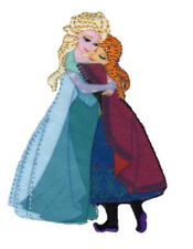 Disney Frozen Anna & Elsa Official Iron on Applique Motif With Stitched Edges