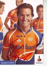 CYCLISME carte cycliste GERBEN LOWIK  équipe RABOBANK  signée