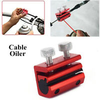 Cable Luber Hand Tool Anodized Aluminum Twin-Clamp Cable Oiler for Motorcycle