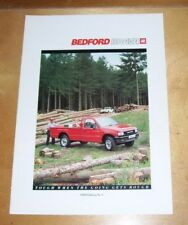 BEDFORD BRAVA 4x2 4x4 PICKUP SALES BROCHURE 1989 Edition No.1 Sept 1988 B3075