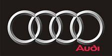 Audi Rings Logo Flag  black landscape  1500mm x 900mm (of)