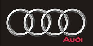 Audi Rings Logo Flag  black landscape  1500mm x 900mm (of)