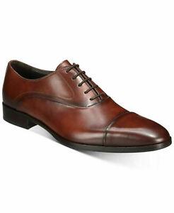 Bruno Magli Cancun Men Cap Toe Oxfords Rust Brown Calf Leather