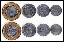CAMBODIA  4 COINS SET 50 100 200 500 RIEL BI-METAL 1994 UNC
