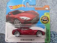 Hot Wheels 2017 # 200/365 ASTON MARTIN one-77 Rojo HW Exotics