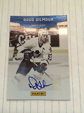 2011-12 Panini Doug Gilmour Hall Of Fame Autographed Card # HOF 1