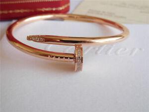 Diamond Nail Cartier , Juste UN Clou Bangle , 18K rose Gold Bracelet size 17
