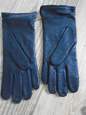 RAF OR ARMY WOMENS BLACK LEATHER SERVICE GLOVES SLIGHTLY PADDED SIZE 8.5