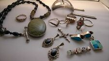Vintage Mixed Sterling Silver Lot - Scrap Or Not 138.9 Gr
