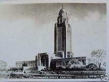RPPC NEBRASKA STATE CAPITOL LINCOLN, NEB. NEBR. REAL PHOTO B W POSTCARD c. 1930