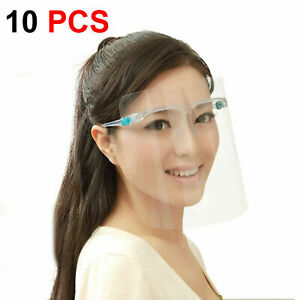 Pack of 10 Full Clear Glasses Face Shield Visor Protection Cover Safety Anti-fog