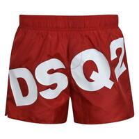 DSQUARED2 MEN'S LOGO SWIMMING BOXER SHORTS D7B641740 - RED
