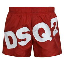 DSQUARED2 MEN'S LOGO SWIMMING BOXER SHORTS D7B641740 - RED