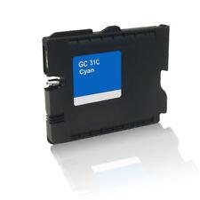 Compatible cartucho de Gel para Ricoh Aficio GX e 2600 e3300 n 3350n GC-31C Cian