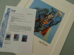 ANDY WARHOL, SUPERMAN  SIGNED AND HAND NUMBERED LITHOGRAPH