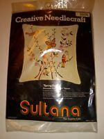 "Vintage SPRING SONG Birds Creative Needlecraft Crewel Embroidery Kit New - 14"""