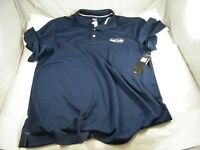 NWT SEATTLE SEAHAWKS POLO SHIRT BY MAJESTIC SIZE LARGE NFL LICENSED