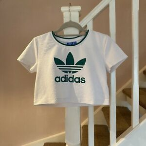 Womens Girls Adidas T Shirt Size 12 Medium Originals Retro Vintage Casual