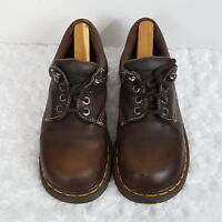 Dr. Martens Mens Oxford Shoes 8 Brown 9846 Leather Lace Up Lug Soles England