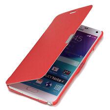Samsung Galaxy Note 4 Hülle Tasche Slim Case Schutz Hülle Etui Cover rot
