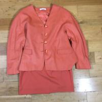 Joseph Janard Lamb Wool Blazer Jacket Matching Skirt Size 16