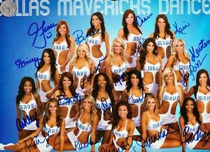 2012-2013 DALLAS MAVERICKS DANCERS / CHEERLEADERS POSTER AUTOGRAPHED by ALL, HoT