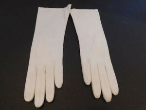 ALEXETTE BY MARSHALL FIELDS LADIES WHITE COTTON DRESS GLOVES UNLINED SIZE 7