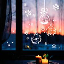 Fensteraufkleber Weihnachts Kugeln mit Schneeflocken 12409 Winter Fenster Window