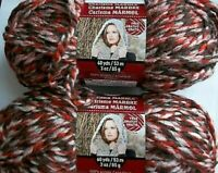 Loops&Threads Charisma Marble bulky yarn, Brown Sugar LOT OF 2