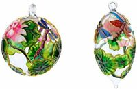 Kubla Crafts Dragonflies and Flowers Christmas Ornament Bundle - Cloisonne On...