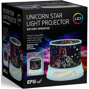 Misty Unicorn Projector Light Sky Fairy Star Night LED Relax Lamp Kids Girl Boy