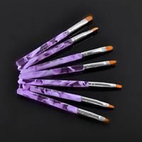 7pcs/set DIY Salon Manicure Pen UV Gel Nail Art Brush Polish Painting Pen Kit