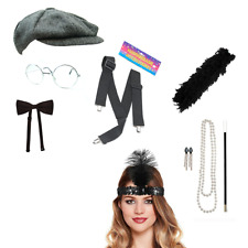 Couples Fancy Dress Gatsby Accessories Flapper Costume 1930's Outfit