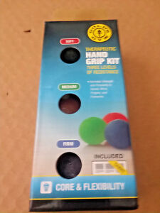 Gold's Gym Therapeutic Hand Grip Kit (3 Levels of Resistance) NIB