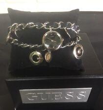 Guess Charm Watch Ladies Silver Bracelet