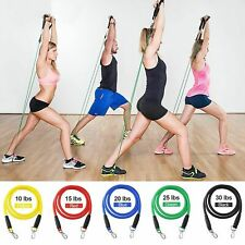 11PCS/Set Resistance Bands Workout Abs Exercise Yoga Home Sport Fitness Tubes