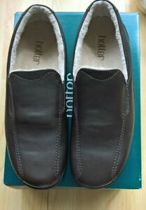Hotter Relax Dark  Brown leather  Mens Slippers Size 12 ( 47 )  STD   BNIB