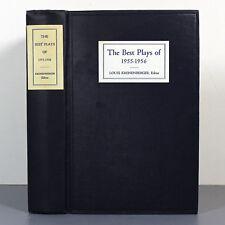 THE BEST PLAYS OF 1955-1956 - Louis Kronenberger - HIRSCHFELD Drawings - Photos