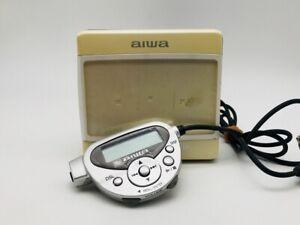 MD0894 Excellent  aiwa MINI DISC PLAYER AM-HX300  White  w/Controller