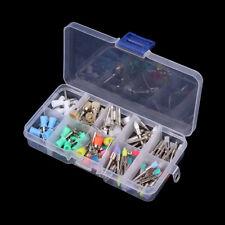 New 100pcs Mixed Color Nylon Latch Flat Polishing Dental Prophy Brushes Cups Kit
