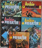 Archie vs Predator II 2019 #1-5 complete plus variants ARCHIE