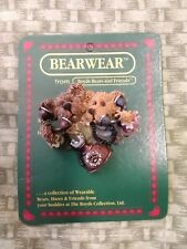 Boyds Bears And Friends Bearwear Pin, Alexandra and Belle. Telephone Tied. 1995