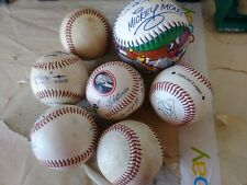 Lot of 6 Baseballs & 1 Softball