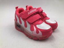 Jiandian Magenta/White Skate Sneaker Roller Wheel LED Lite-up Girls Shoes US 11