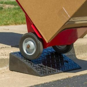 "5.25"" 20 Ton Portable Industrial Warehouse Rubber Curb Dolly Ramp"