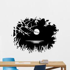 Nature Landscape Wall Decal Moon Lake Tree Vinyl Sticker Art Decor Mural 54thn