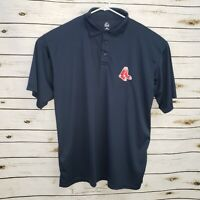 Boston Red Sox Majestic Mens Polo Shirt Blue Short Sleeve Embroidered Logo 2XLT