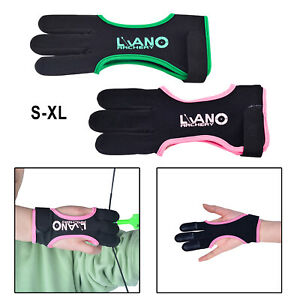 Archery Glove for Recurve Compound Bow 3Finger Leather Guard for Women Men Youth